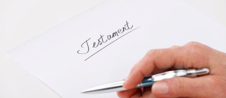 Eigenhändiges Testament
