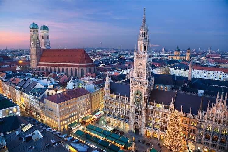Blick auf Münchner Innenstadt