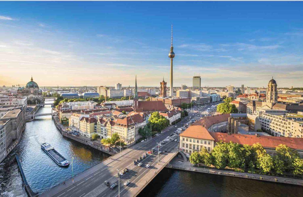 Blick auf Stadt Berlin