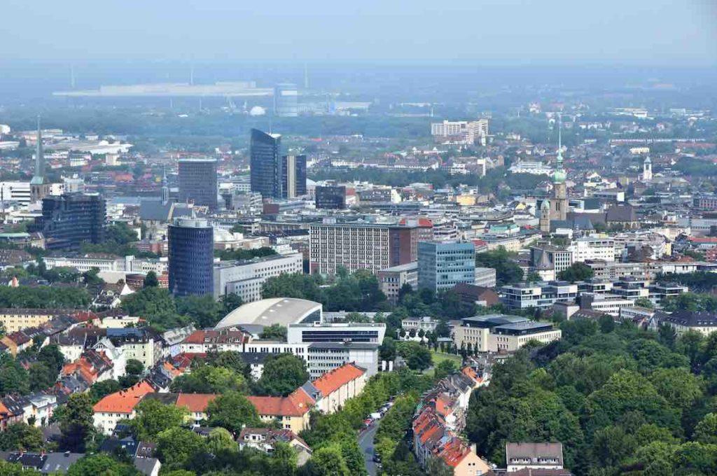 Blick auf Stadt Dortmund