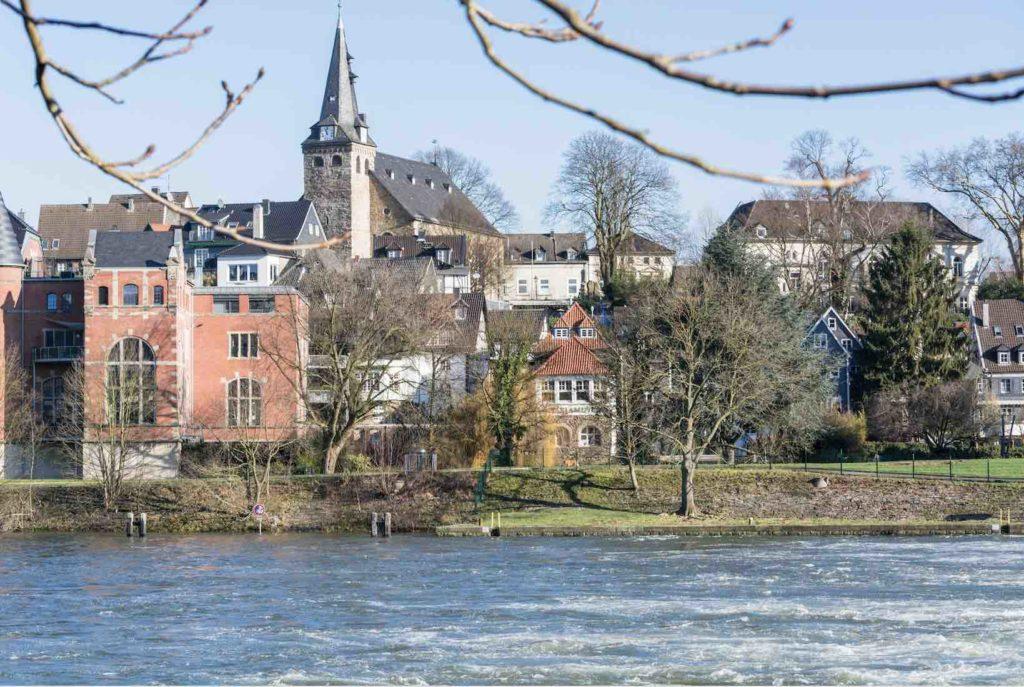Blick auf Stadt Essen in Deutschland